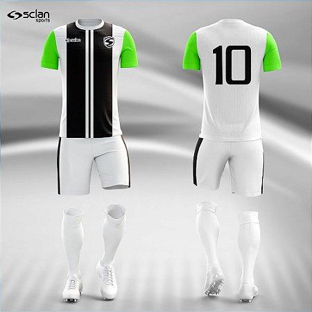 Jogo Uniforme Esportivo Camisa Short, Meião Futebol | Série Prata COD. ss89