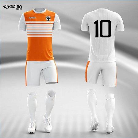 Jogo Uniforme Esportivo Camisa Short, Meião Futebol | Série Prata COD. ss92