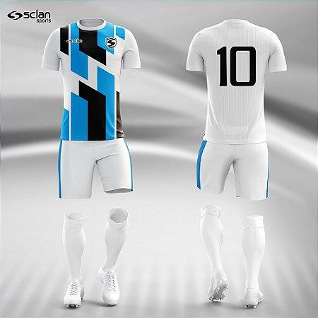 Jogo Uniforme Esportivo Camisa Short, Meião Futebol | Série Prata COD. ss94