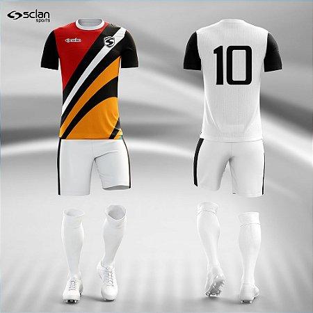Jogo Uniforme Esportivo Camisa Short, Meião Futebol   Série Prata COD. ss96