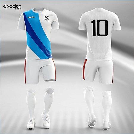 Jogo Uniforme Esportivo Camisa Short, Meião Futebol   Série Prata COD. ss98