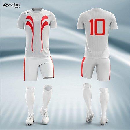 Jogo de Uniforme Futebol - Camisa, Short e Meião |Série Prata Mod. SS01