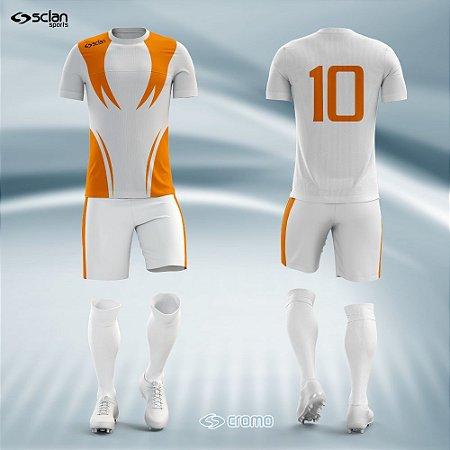 Jogo de Uniforme Futebol - Camisa, Short e Meião  Série Prata Mod. SS04
