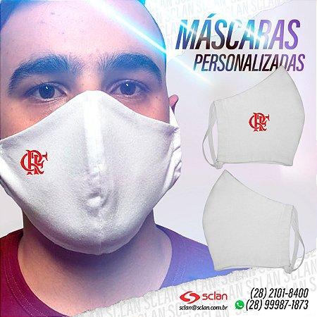 Máscara de proteção Flamengo personalizadas 100% Algodão Reutilizável - 3 Unidades