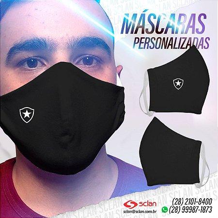 Máscara de proteção Botafogo personalizadas 100% Algodão Reutilizável - 3 Unidades