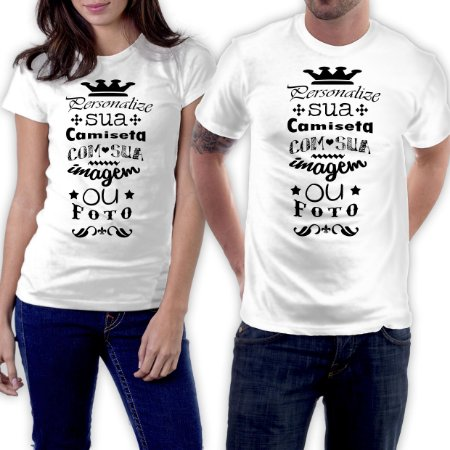 Camiseta Branca de Poliéster Personalizada