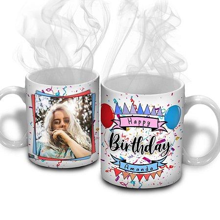 Caneca Aniversário - Happy Birthday