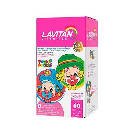 Lavitan Infantil Cimed Tutti Frutti 60 Comprimidos Mastigáveis