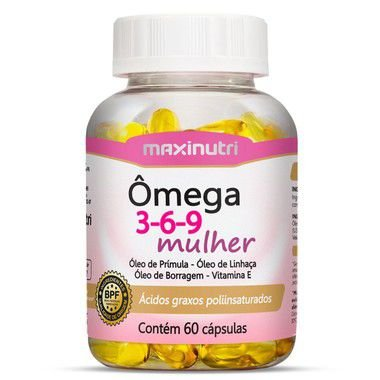Ômega 3-6-9 Mulher Maxinutri Suplemento 60 Cápsulas