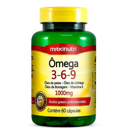 Ômega 3-6-9 - 60 cápsulas - Maxinutri