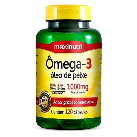Ômega 3 - 120 cápsulas - Maxinutri