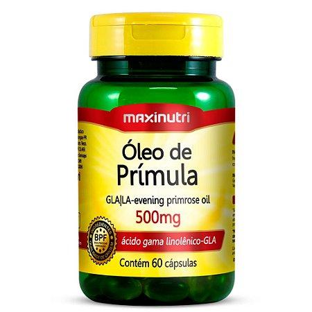 Óleo De Prímula 500 mg Maxinutri Suplemento 60 Cápsulas