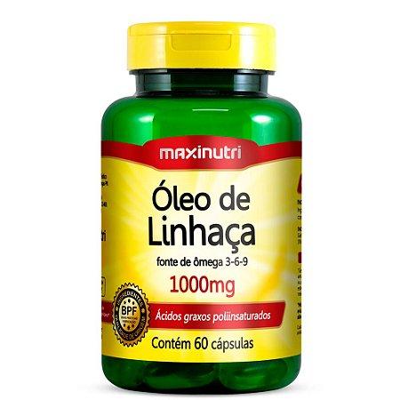 Óleo De Linhaça Em Cápsulas 1000 mg Maxinutri 60 Cáps