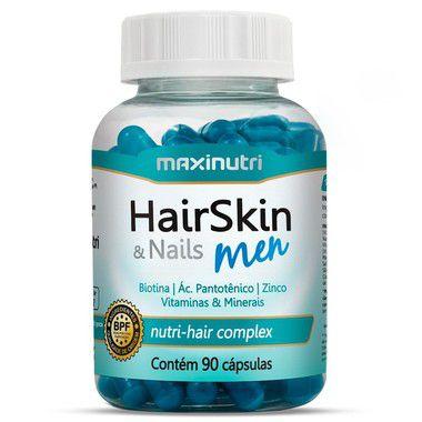 Hair Skin Men - 90 cápsulas - Maxinutri