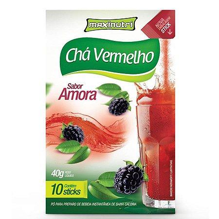 Chá Vermelho Amora - 10 Sticks - Tisana Maxinutri