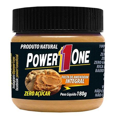 Pasta de Amendoim Integral Zero Açúcar - 180g - Power1One val: 06/18