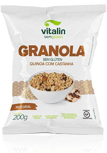 Granola sem Glúten Quinoa com Castanhas – 200 gramas - Vitalin