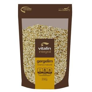 Gergelim Branco Natural - 200 gramas - Vitalin