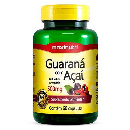 Guaraná com Açaí - 60 cápsulas - Maxinutri