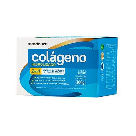 Colágeno Hidrolisado 2 em 1 Original - 30 sachês de 10g - Maxinutri
