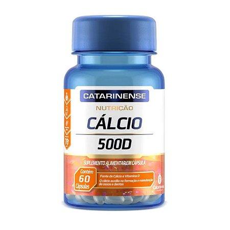 Cálcio 500 D - 60 cápsulas - Catarinense