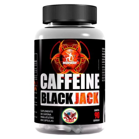 Cafeína Black Jack USA  - 90 cápsulas - Midway