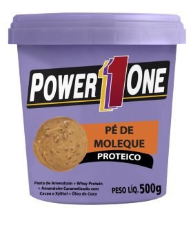 PASTA DE AMENDOIM PÉ DE MOLEQUE PROTEICO - 500 GR - POWER1ONE val: 06/18