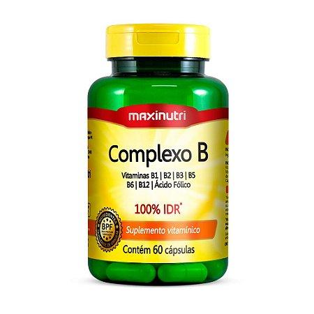 Complexo B Vitaminas Maxinutri Suplemento 60 Cápsulas