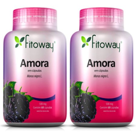 Amora 500mg - 2 unidades de 60 cápsulas - Fitoway