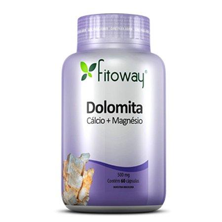 Dolomita (cálcio + magnésio 500mg) - 60 cápsulas - Fitoway