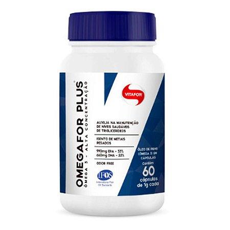 Omegafor Plus Vitafor Ômega 3 Óleo De Peixe 60 Cápsulas