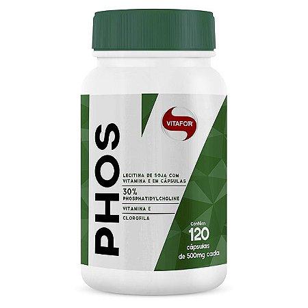 PHOS (Lecitina de Soja) - 120 Cápsulas - Vitafor