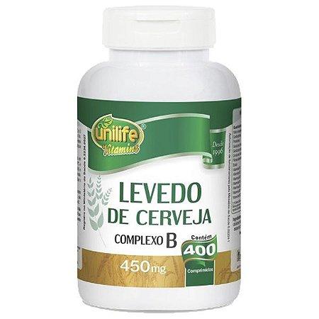 Levedo de Cerveja Complexo B Unilife 400 Comprimidos