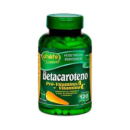 Betacaroteno Vitamina A Pró Unilife 120 Cápsulas