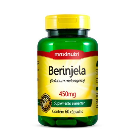 Cápsulas De Berinjela Maxinutri 450mg 60 Cáps