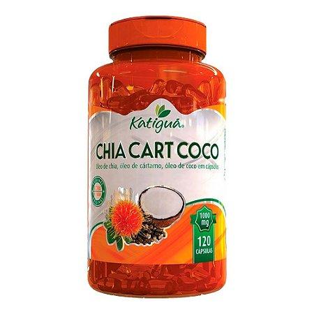ChiaCartCoco Óleo De Chia + Cártamo e Coco Katigua 120 Cáps