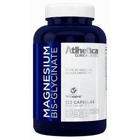 Bisglicinato de Magnésio - 120 Cápsulas - Atlhetica