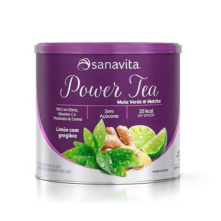Power Tea Mate Verde e Matcha - 200 Gramas - Sanavita
