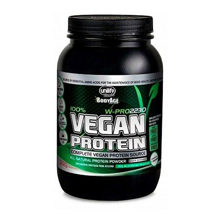 Protein Vegan Unilife Morango Suplemento Proteico 900g