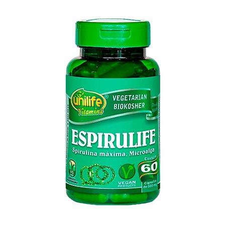 Espirulife (spirulina) - 60 Cápsulas - Unilife