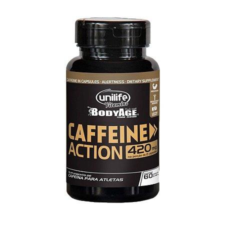 Caffeine Action (Cafeína) 420mg - 60 Cápsulas - Unilife