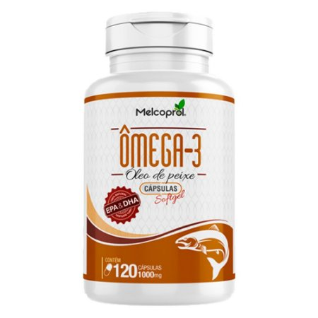 Ômega 3 Óleo de Peixe - 120 Cápsulas - Melcoprol