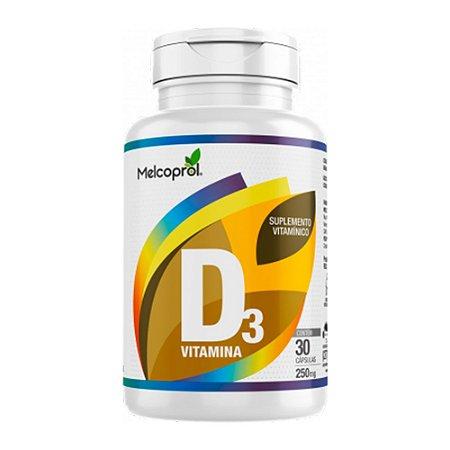 Vitamina D3 250mg - 30 Cápsulas - Melcoprol
