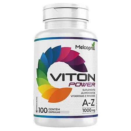 Viton Power Polivitamínico A-Z - 100 Cápsulas - Melcoprol