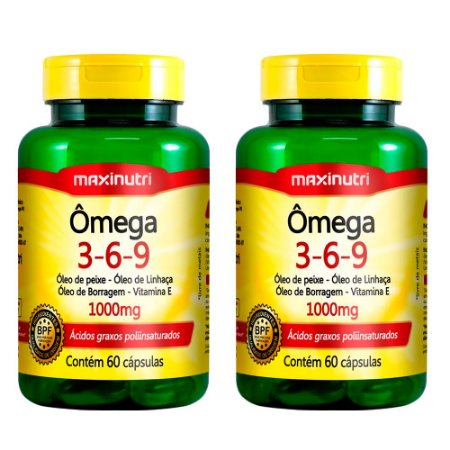 Ômega 3-6-9 - 2x 60 cápsulas - Maxinutri