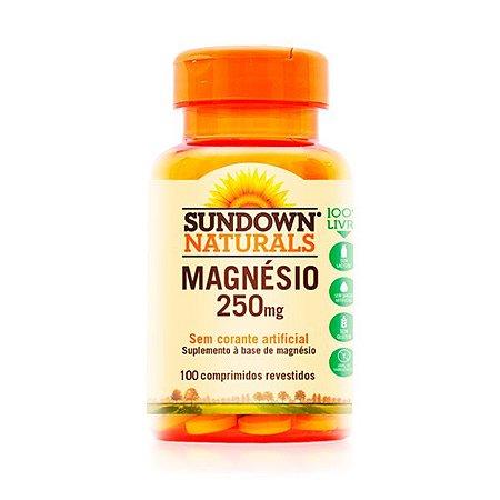Magnésio 250mg - 100 Comprimidos - Sundown