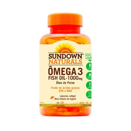 Ômega 3 1000mg Sundown Fish Oil Óleo De Peixe 60 Cápsulas