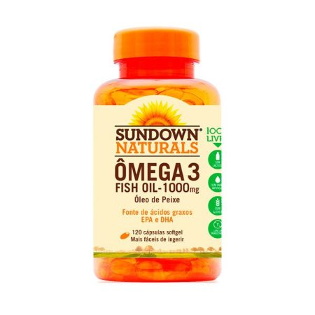 Ômega 3 Fish Oil - 120 Cápsulas - Sundown