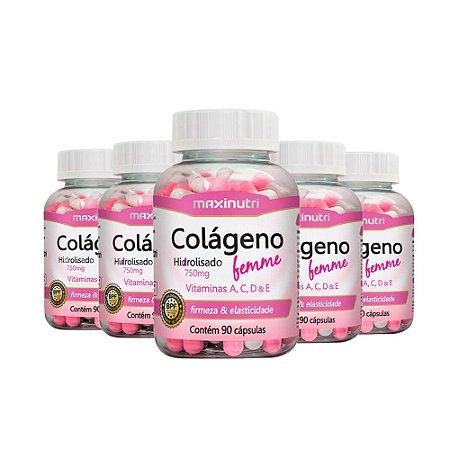 Colágeno Hidrolisado Femme - 5x 90 cápsulas - Maxinutri