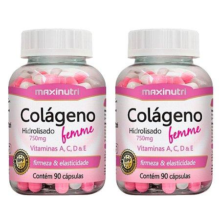 Colágeno Hidrolisado Femme - 2x 90 cápsulas - Maxinutri